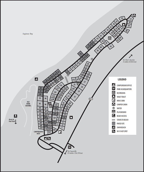 Port Crescent State Park (Campground Map)