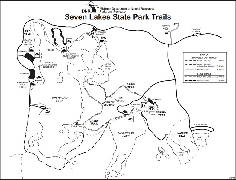 Seven Lakes State Park (Trail Map)