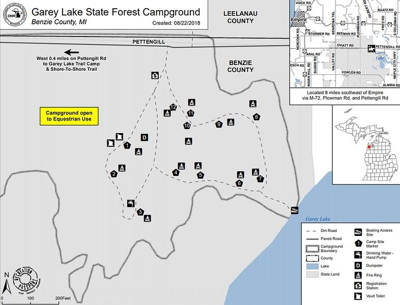 Garey Lake State Forest Campground