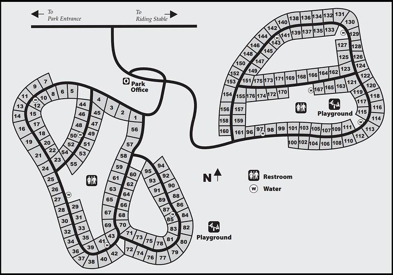 Pontiac Lake Recreation Area (Campground Map)
