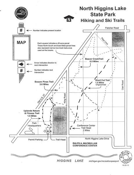 North Higgins Lake State Park (Trail Map)