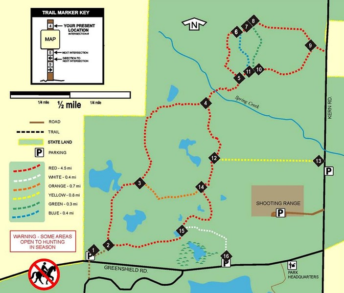 Bald Mountain State Recreation Area (Trails - South)