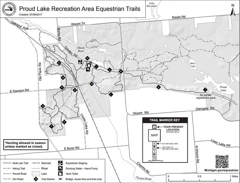 Proud Lake Recreation Area (Equestrain Trails)