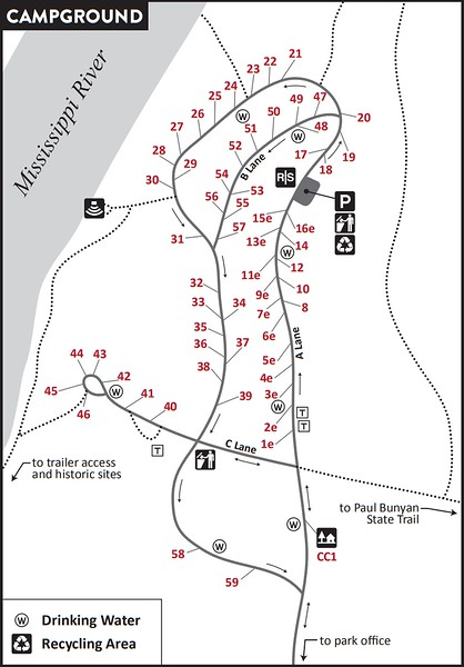 Crow Wing State Park (Campground Map)