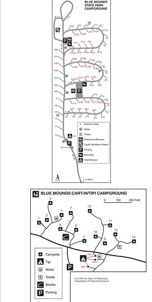 Blue Mounds State Park (Campground Maps)