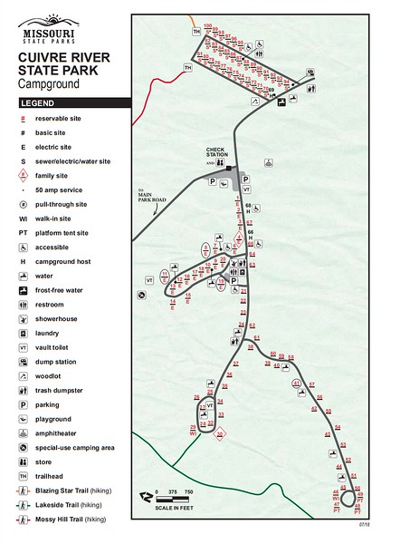 Cuivre River State Park (Campground Map)