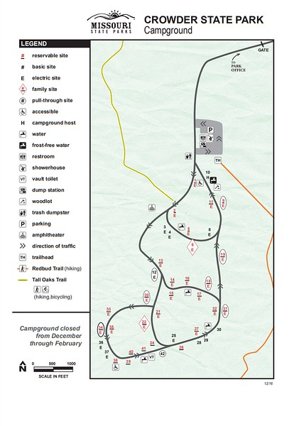 Crowder State Park (Campground Map)