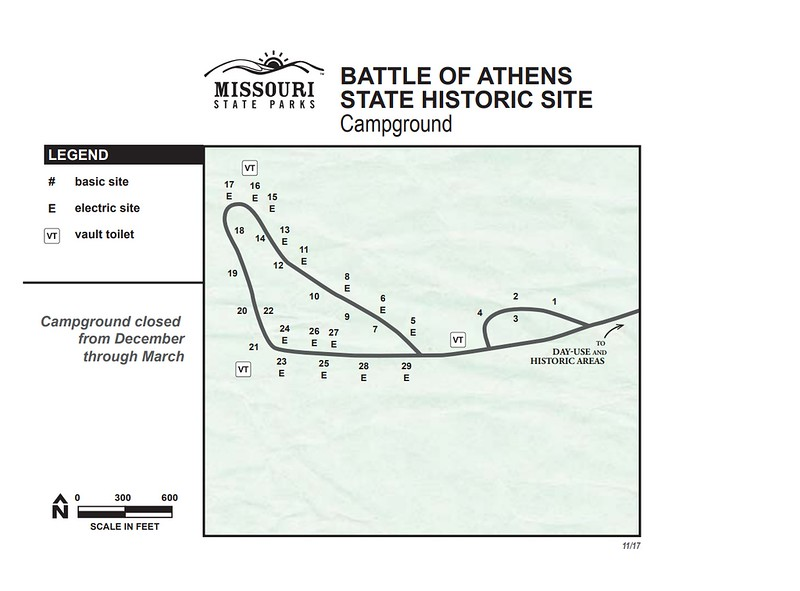Battle of Athens State Historic Site (Campground Map)