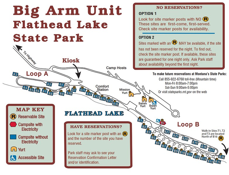 Big Arm-Flathead Lake State Park (Campground Map)
