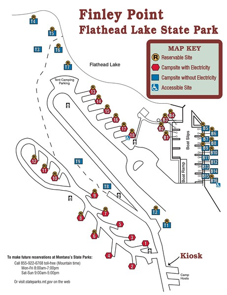 Finley Point-Flathead Lake State Park (Campground Map)