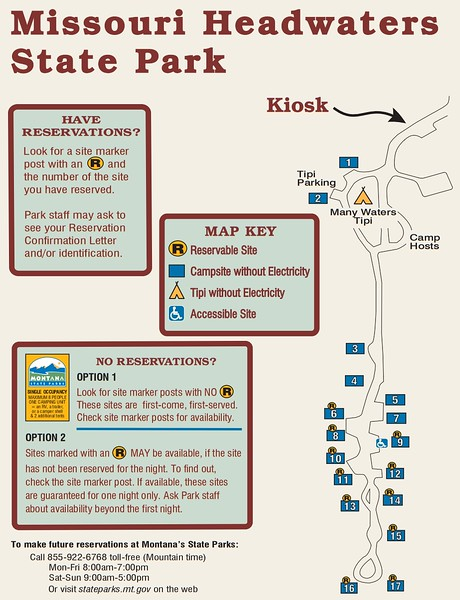 Missouri Headwaters State Park (Campground Map)