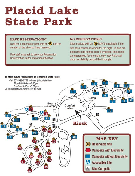 Placid Lake State Park (Campground Map)