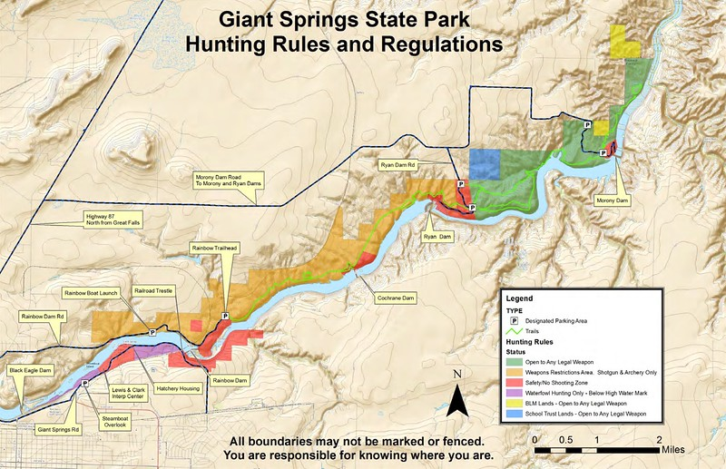 Giant Springs State Park (Hunting Map)