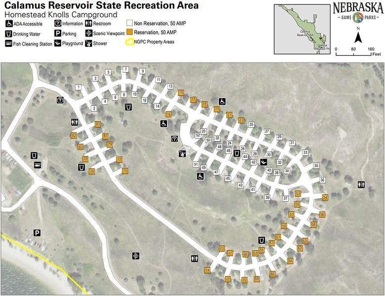 Calamus State Recreation Area (Homestead Knolls Campground)