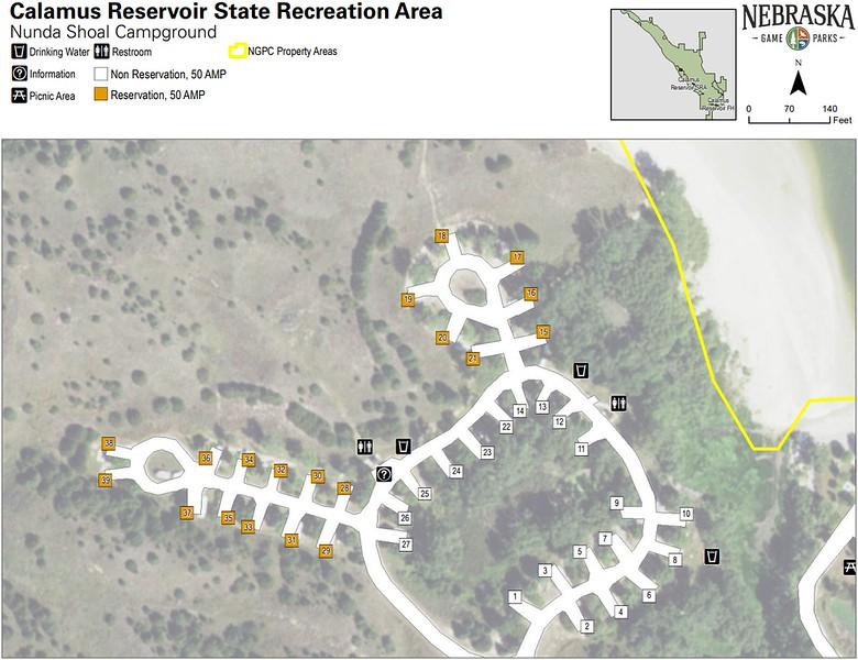 Calamus State Recreation Area (Nunda Shoal Campground)