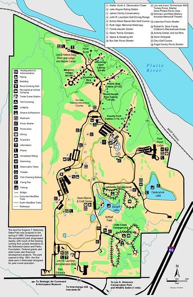 Mahoney State Park Map Nebraska State Park Maps   dwhike