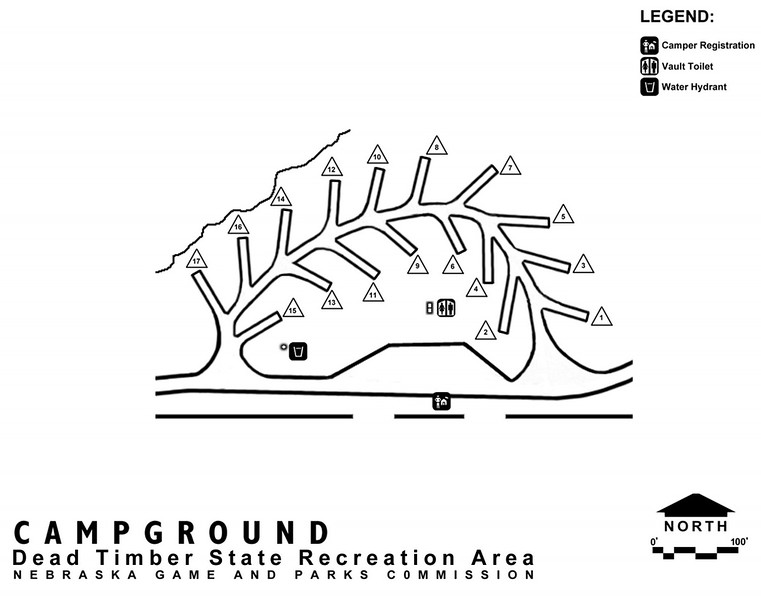 Dead Timber State Recreation Area (Campground Map)