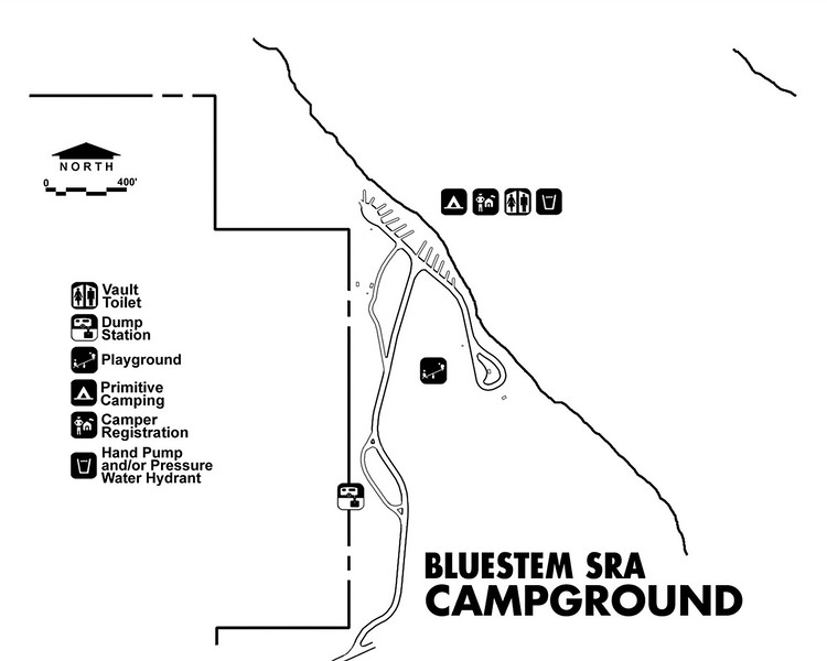 Bluestem State Recreation Area (Campground Map)