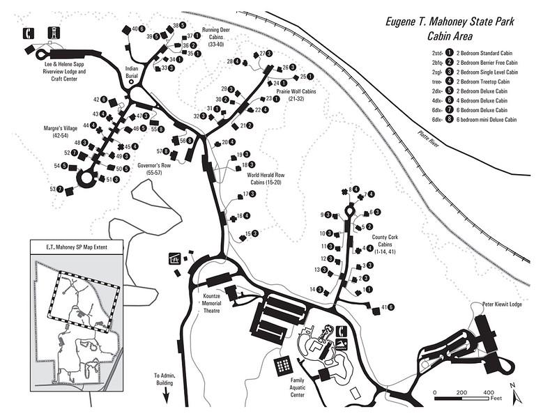 Eugene T. Mahoney State Park (Cabin Area Map)