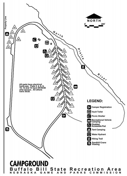 Buffalo Bill Ranch State Recreation Area (Campground Map)