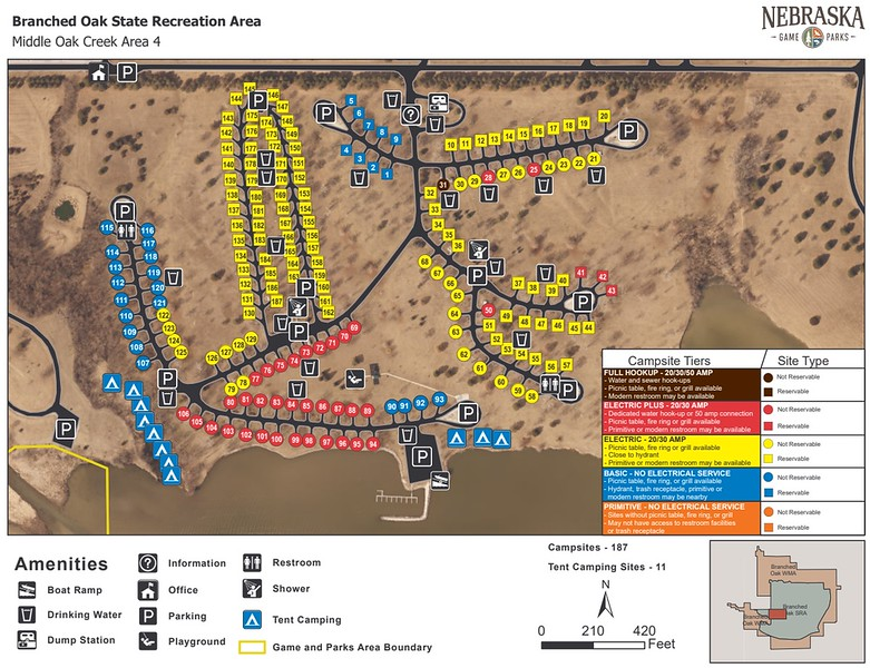 Branched Oak State Recreation Area (Middle Oak Creek Campground)