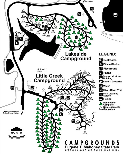Eugene T. Mahoney State Park (Campground Maps)
