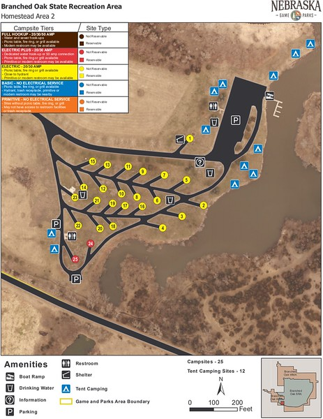 Branched Oak State Recreation Area (Homestead Area Campground)