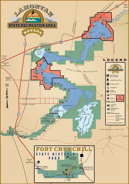 Lahontan State Recreation Area (No Hunting Zones Map)