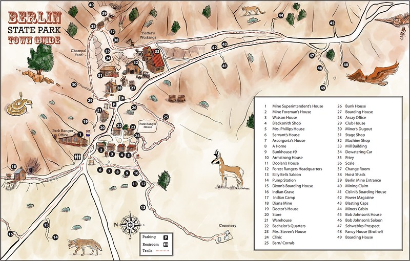 Berlin-Ichthyosaur State Park (Berlin Townsite Map)