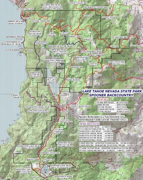 Lake Tahoe Nevada-Spooner Lake & Backcountry State Park