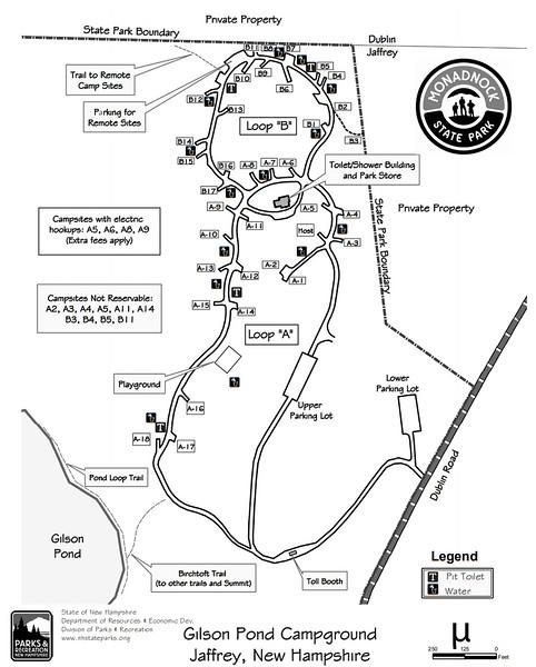 Monadnock State Park (Gilson Pond Campground)