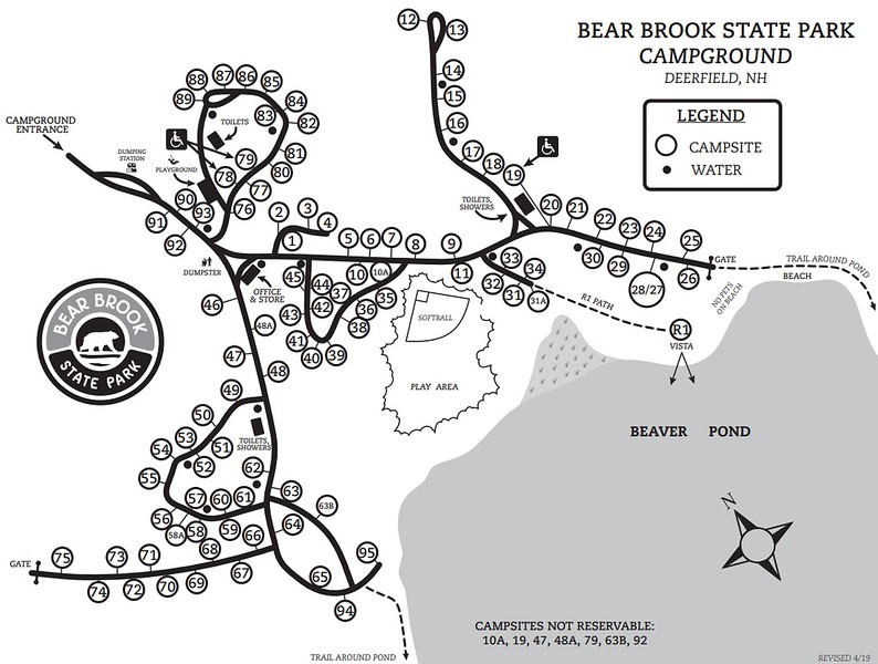 Bear Brook State Park (Campground Map)