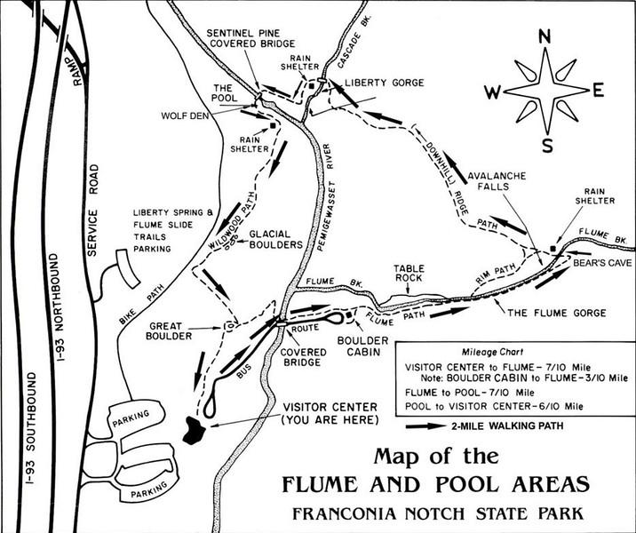 Franconia Notch State Park (Flume Gorge Trail Map)