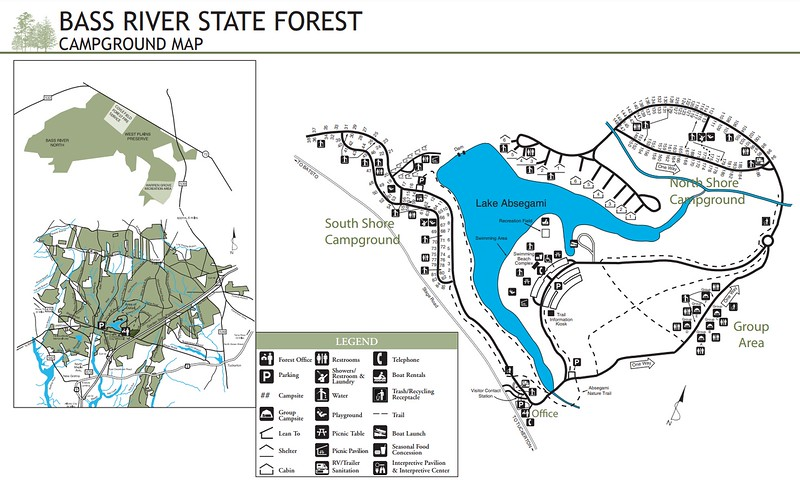 Bass River State Forest (Campground Map)