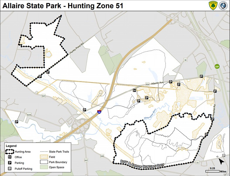 Allaire State Park (Hunting Map)