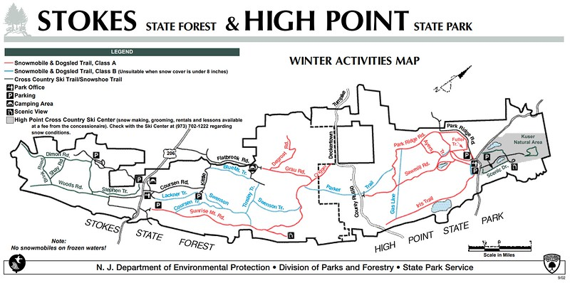 High Point State Park (Winter Map)