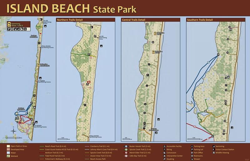 Island Beach State Park (Trail Maps)