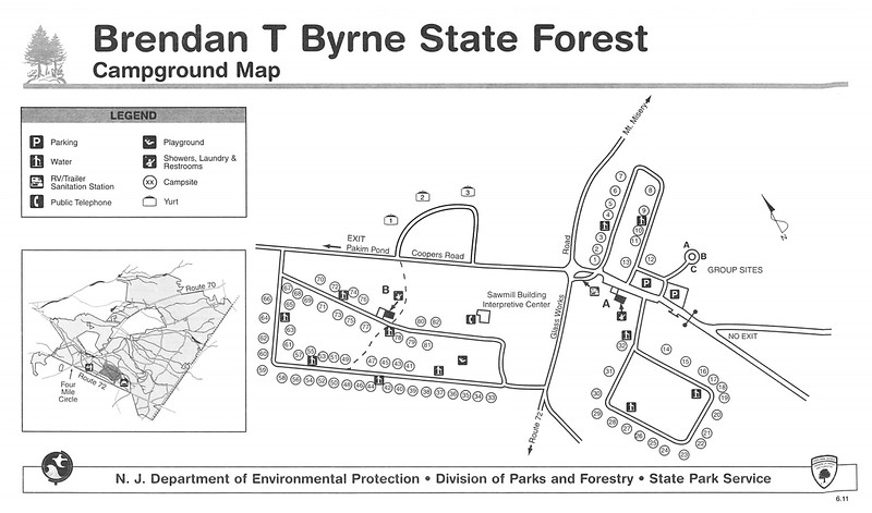 Brendan T. Byrne State Forest (Campground Map)