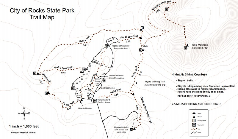 City of Rocks State Park (Trail Map)
