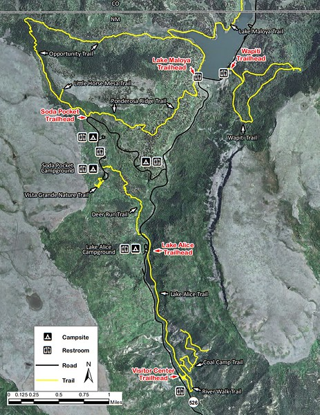 Sugarite Canyon State Park (Trail Map #2)