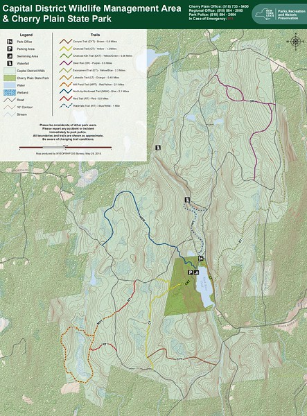 Cherry Plain State Park (Area Trail Map)