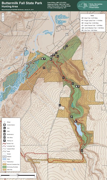 Buttermilk Falls State Park (Hunting Map)