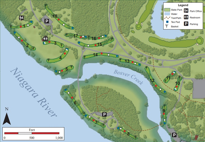Beaver Island State Park (Disk Golf Map)