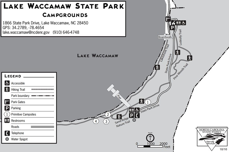 Lake Waccamaw State Park (Campground Map)