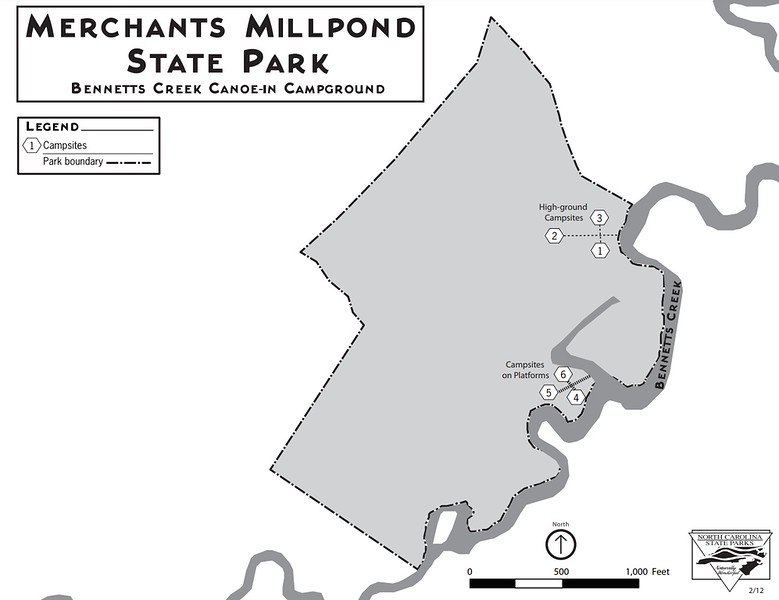 Merchants Millpond State Park (Bennetts Creek Canoe-In Campground)