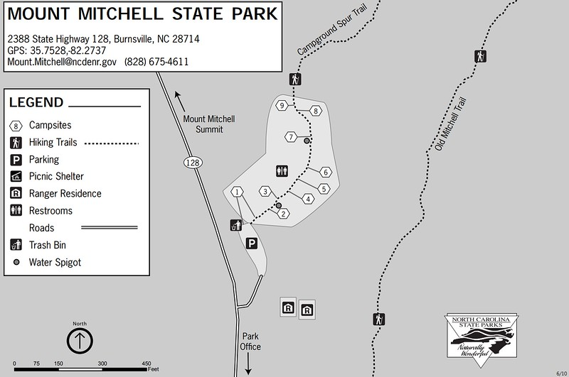 Mount Mitchell State Park (Campground Map)