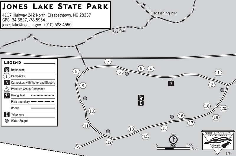 Jones Lake State Park (Campground Map)