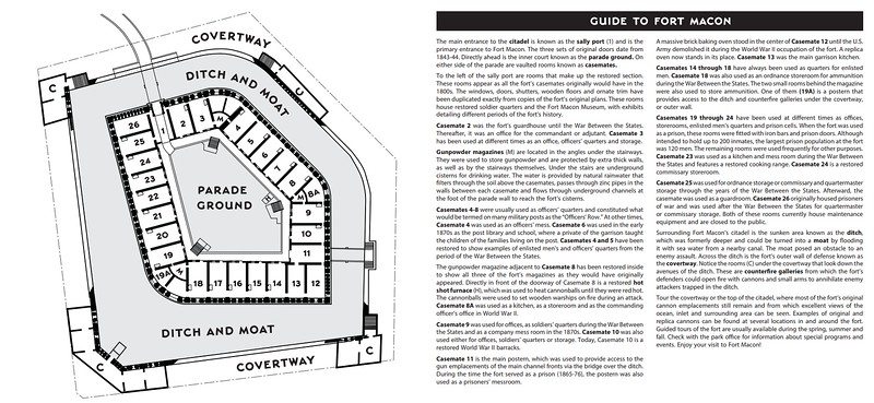 Fort Macon State Park (Fort Guide Map)