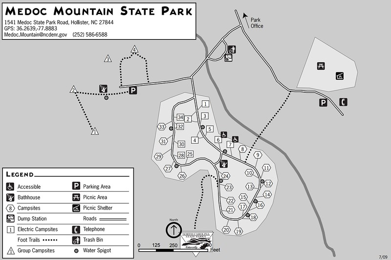 Medoc Mountain State Park (Campground Map)