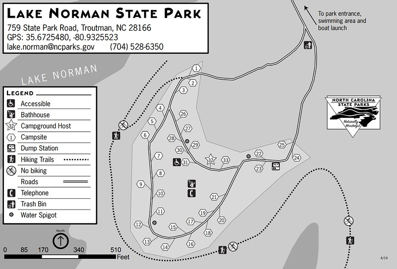 Lake Norman State Park (Campground Map)